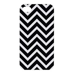 Zigzag Pattern Apple Iphone 4/4s Premium Hardshell Case by Valentinaart