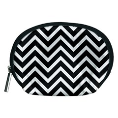Zigzag Pattern Accessory Pouches (medium)  by Valentinaart