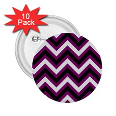 Zigzag Pattern 2 25  Buttons (10 Pack)  by Valentinaart