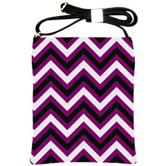Zigzag Pattern Shoulder Sling Bags by Valentinaart