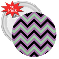 Zigzag Pattern 3  Buttons (10 Pack)  by Valentinaart