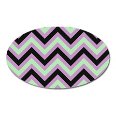 Zigzag Pattern Oval Magnet by Valentinaart
