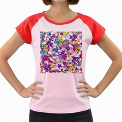Lilac Lillys Women s Cap Sleeve T Shirt by designworld65