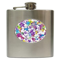 Lilac Lillys Hip Flask (6 Oz)