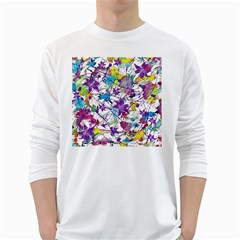 Lilac Lillys White Long Sleeve T Shirts