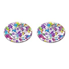 Lilac Lillys Cufflinks (oval) by designworld65