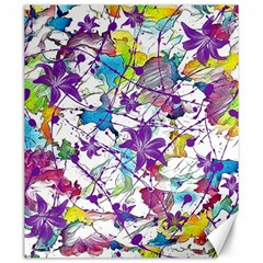 Lilac Lillys Canvas 20  X 24   by designworld65