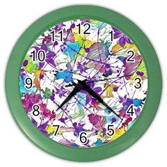 Lilac Lillys Color Wall Clocks