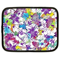 Lilac Lillys Netbook Case (large)