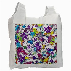 Lilac Lillys Recycle Bag (one Side) by designworld65