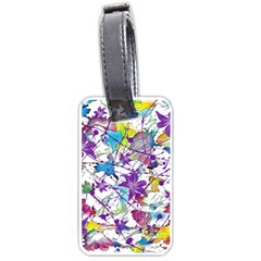 Lilac Lillys Luggage Tags (one Side)  by designworld65