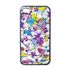 Lilac Lillys Apple Iphone 4 Case (black) by designworld65
