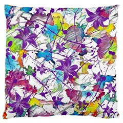Lilac Lillys Large Cushion Case (one Side)