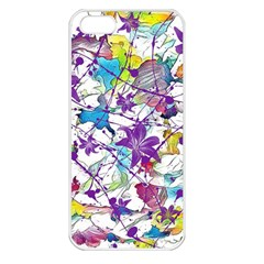 Lilac Lillys Apple Iphone 5 Seamless Case (white) by designworld65
