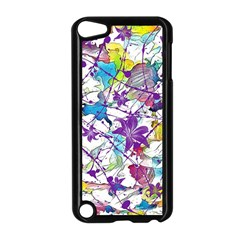 Lilac Lillys Apple Ipod Touch 5 Case (black) by designworld65