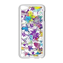 Lilac Lillys Apple Ipod Touch 5 Case (white) by designworld65