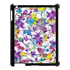 Lilac Lillys Apple Ipad 3/4 Case (black)