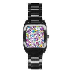 Lilac Lillys Stainless Steel Barrel Watch by designworld65