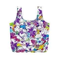 Lilac Lillys Full Print Recycle Bags (m)