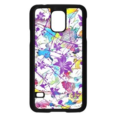 Lilac Lillys Samsung Galaxy S5 Case (black) by designworld65