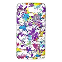 Lilac Lillys Samsung Galaxy S5 Back Case (white) by designworld65