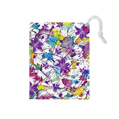 Lilac Lillys Drawstring Pouches (medium)