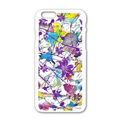 Lilac Lillys Apple Iphone 6/6s White Enamel Case by designworld65