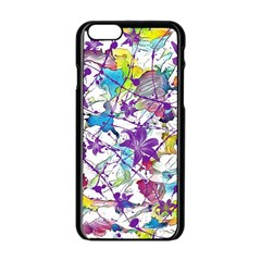 Lilac Lillys Apple Iphone 6/6s Black Enamel Case by designworld65