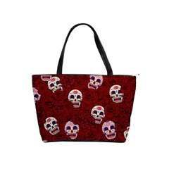 Funny Skull Rosebed Shoulder Handbags by designworld65