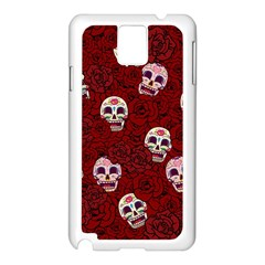 Funny Skull Rosebed Samsung Galaxy Note 3 N9005 Case (white)