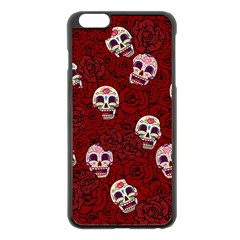 Funny Skull Rosebed Apple Iphone 6 Plus/6s Plus Black Enamel Case by designworld65