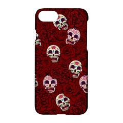 Funny Skull Rosebed Apple Iphone 7 Hardshell Case by designworld65