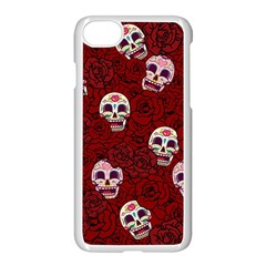 Funny Skull Rosebed Apple Iphone 7 Seamless Case (white)