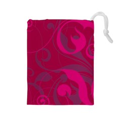 Floral Pattern Drawstring Pouches (large)
