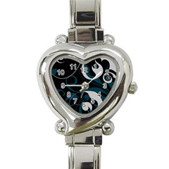 Floral Pattern Heart Italian Charm Watch by Valentinaart