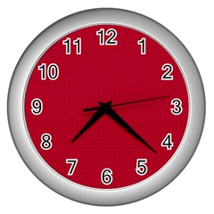 Color Wall Clocks (silver)
