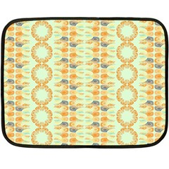 Ethnic Orange Pattern Fleece Blanket (mini) by linceazul