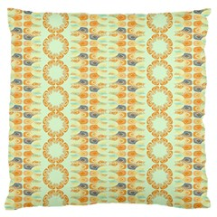 Ethnic Orange Pattern Standard Flano Cushion Case (one Side) by linceazul