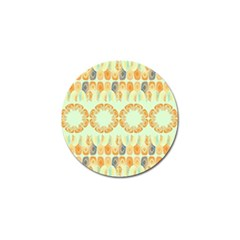 Ethnic Orange Pattern Golf Ball Marker (4 Pack) by linceazul