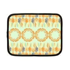 Ethnic Orange Pattern Netbook Case (small)  by linceazul