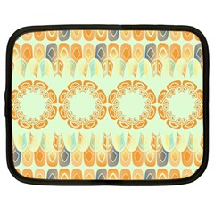 Ethnic Orange Pattern Netbook Case (large) by linceazul