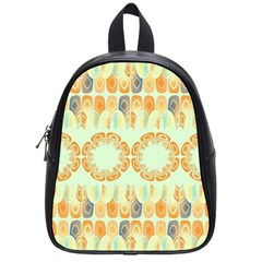 Ethnic Orange Pattern School Bags (small)  by linceazul