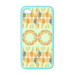 Ethnic Orange Pattern Apple Iphone 4 Case (color) by linceazul
