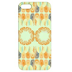 Ethnic Orange Pattern Apple Iphone 5 Hardshell Case With Stand by linceazul