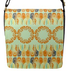 Ethnic Orange Pattern Flap Messenger Bag (s) by linceazul