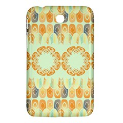 Ethnic Orange Pattern Samsung Galaxy Tab 3 (7 ) P3200 Hardshell Case  by linceazul