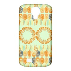 Ethnic Orange Pattern Samsung Galaxy S4 Classic Hardshell Case (pc+silicone) by linceazul