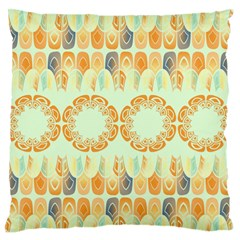 Ethnic Orange Pattern Standard Flano Cushion Case (two Sides) by linceazul