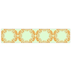 Ethnic Orange Pattern Flano Scarf (small)  by linceazul