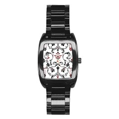 Ornament  Stainless Steel Barrel Watch